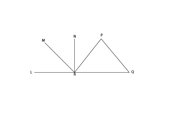 চিএ এর  <PQR=〖55〗^0,<LRN=〖90〗^0 এবং PQIIMR, PQ=PR হলে <NRP এর মান কোনটি?